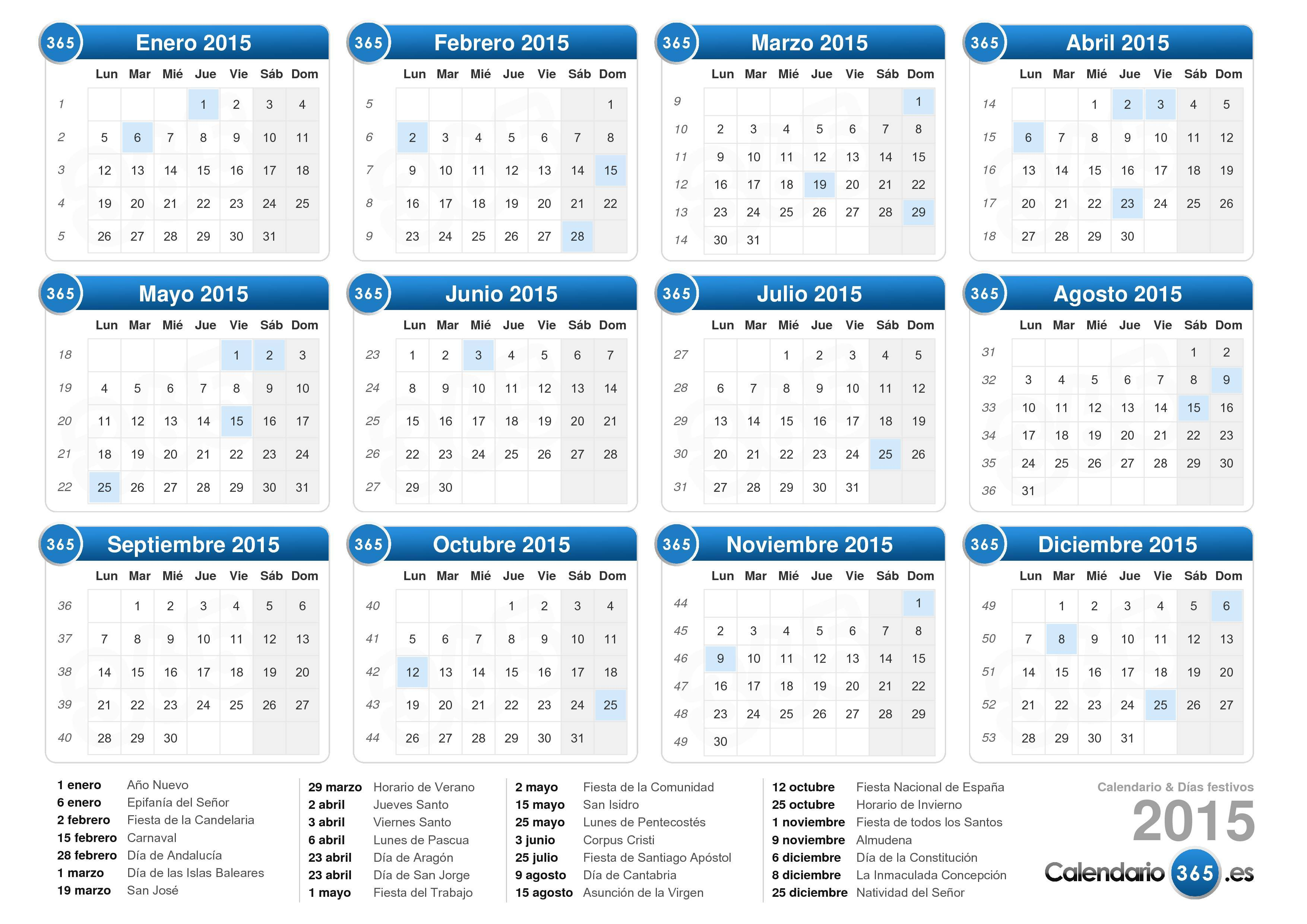 Calendario 2015 for Calendario 2015 ministerio del interior