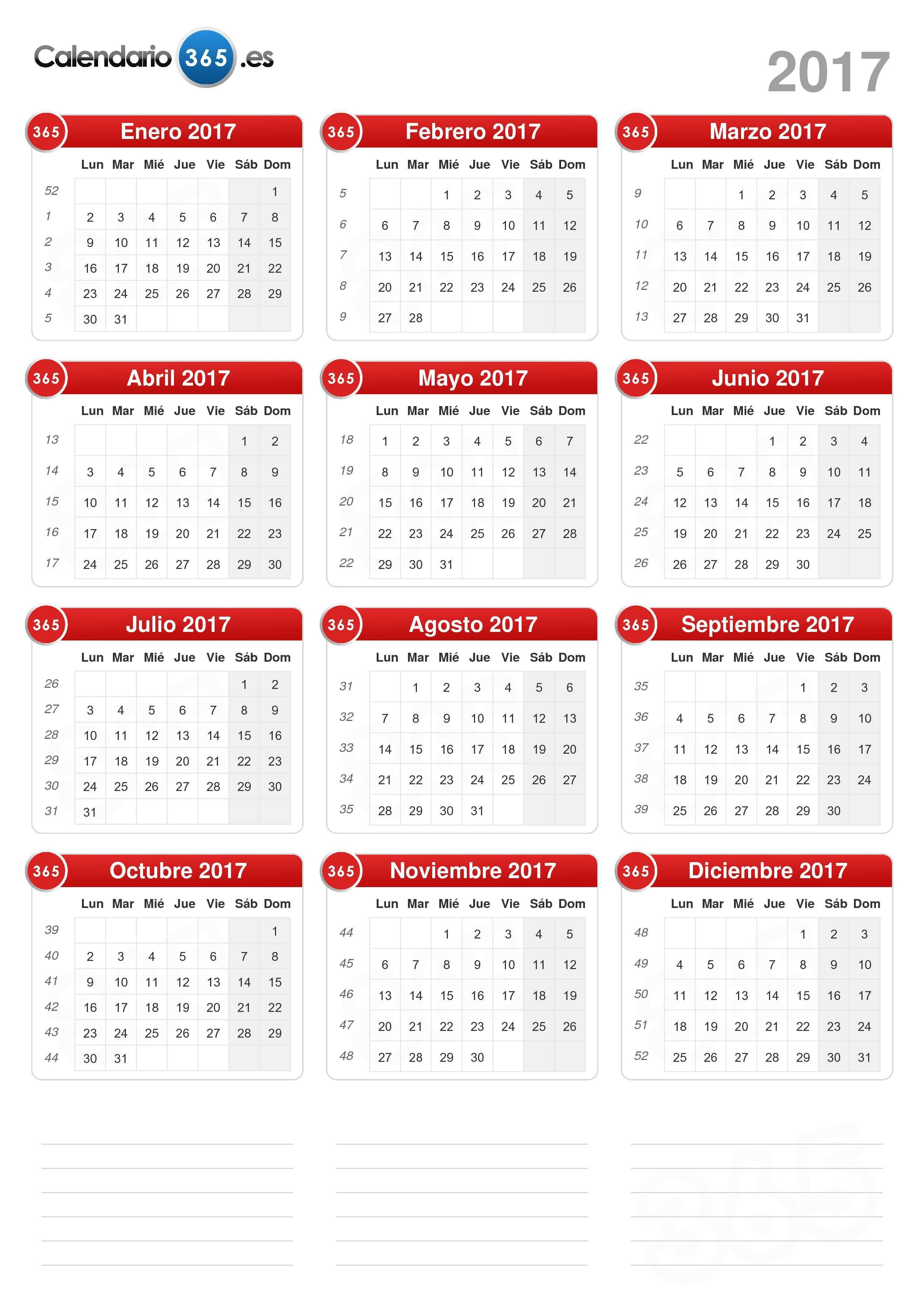Calendario 20017.Calendario 2017