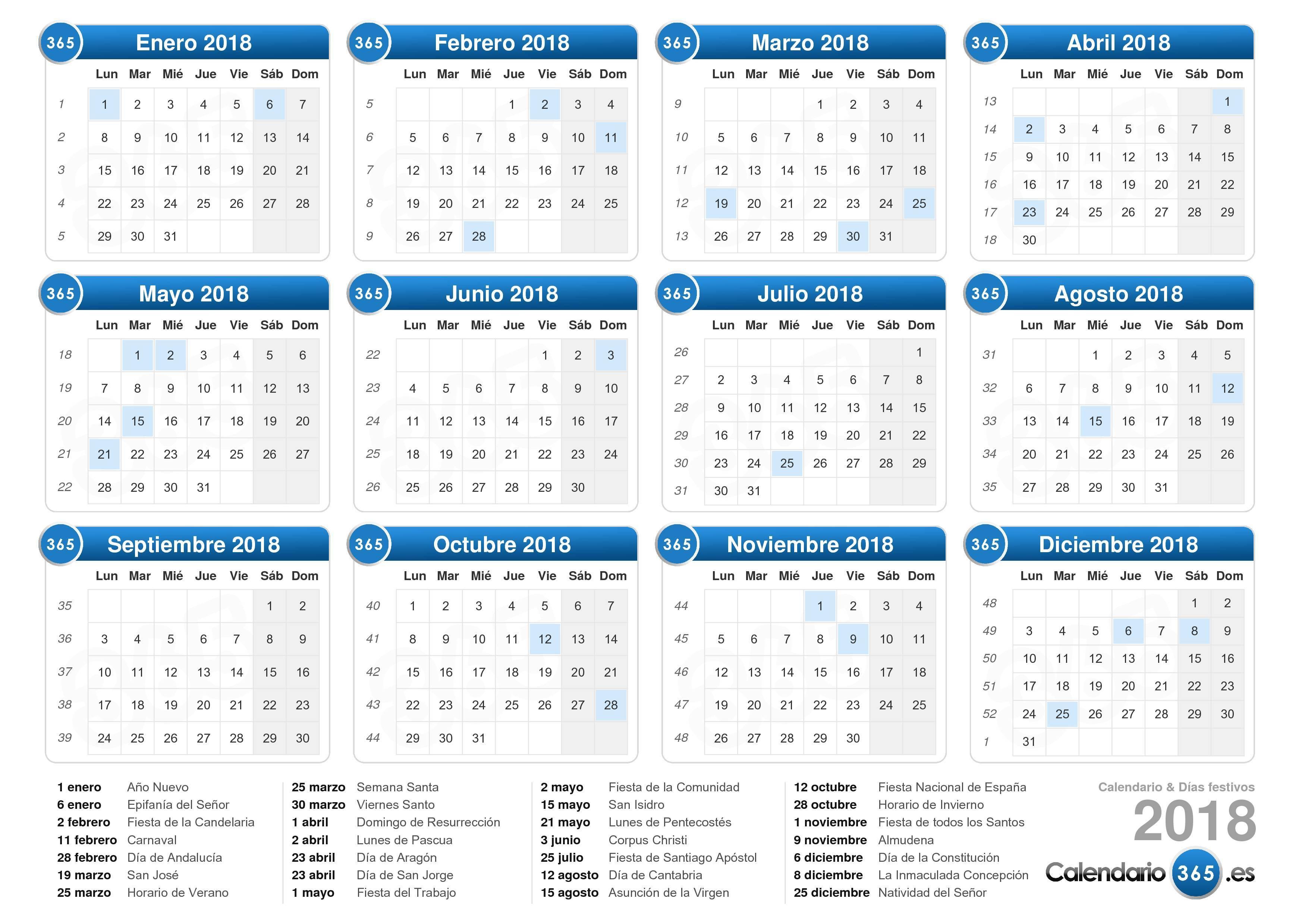 Calendario Diciembre 2018 Argentina.Calendario 2018