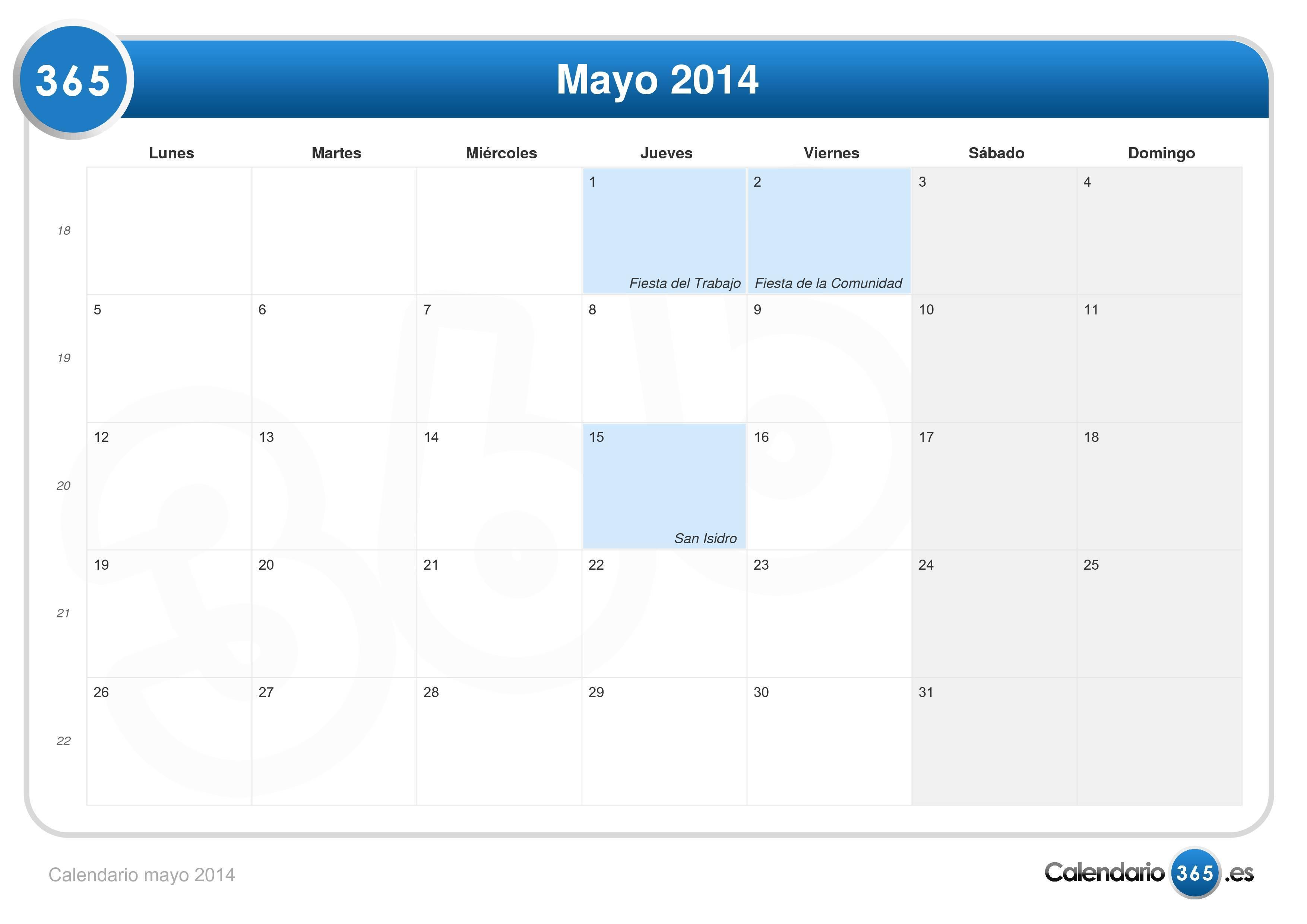 Calendario lunar para Noviembre del año 2014 - fases de