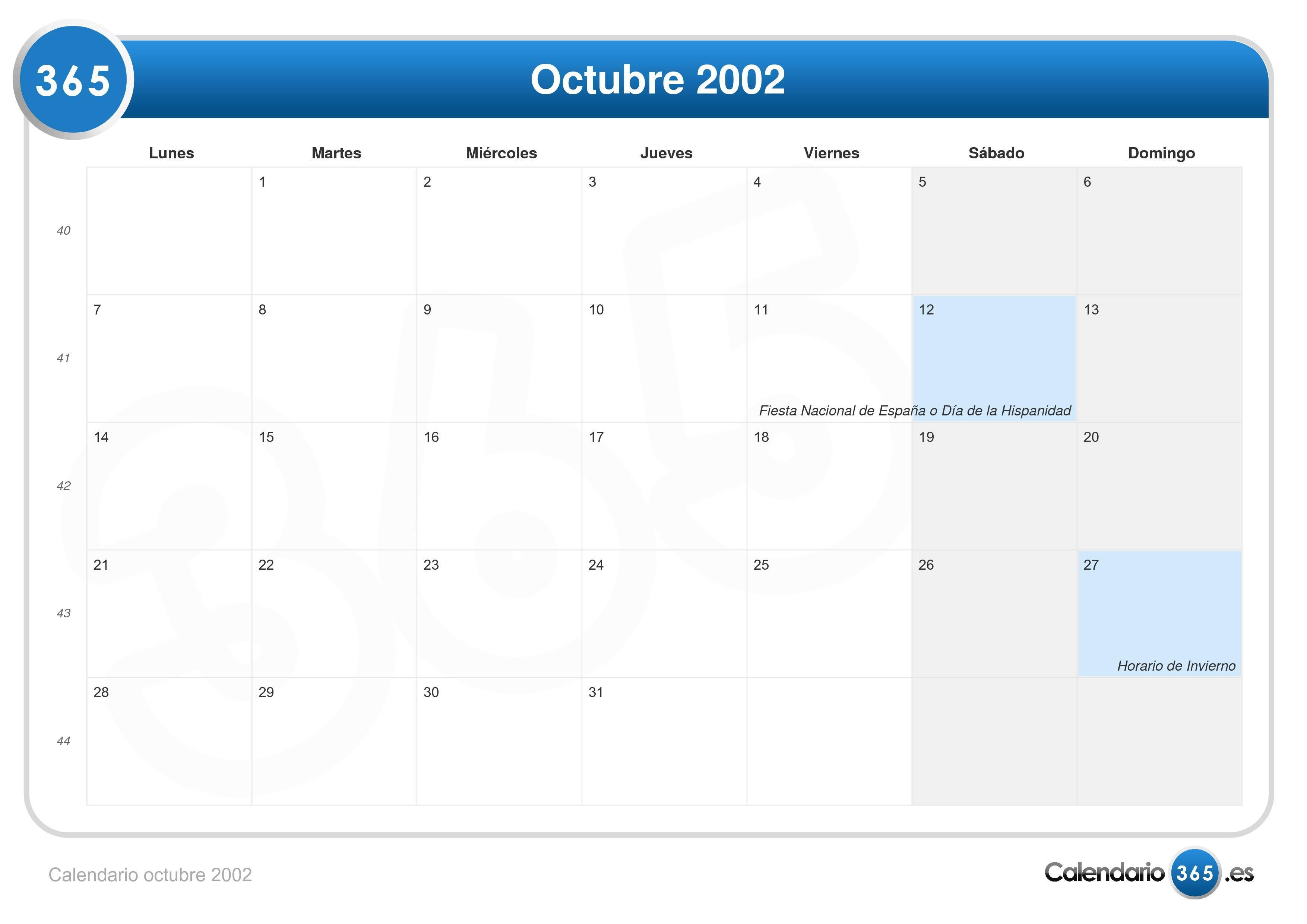 27 octubre 2002: